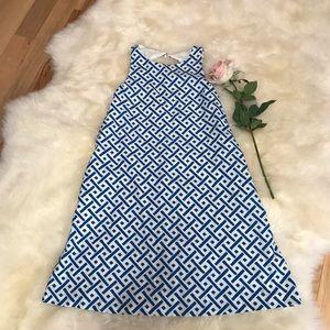 M by Maia Blue & White Linen A-Line Dress, size 4